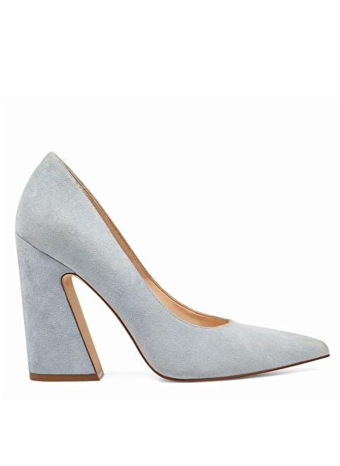 Nine West Kalın Topuklu %100 Süet Ayakkabı Mavi